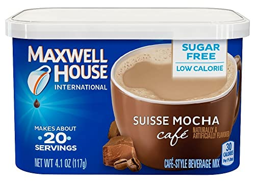 Maxwell House International Coffee Sugar Free Suisse Mocha Cafe