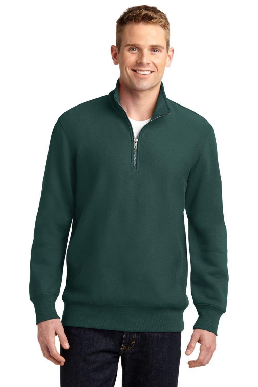 Sport-Tek Men's Super Heavyweight 1/4 Zip Pullover Sweatshirt S Dark Green by Sport-Tek