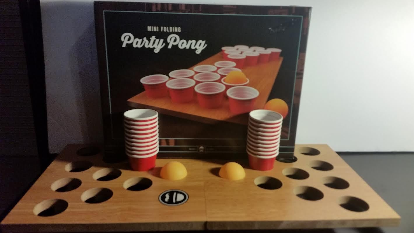 Mini Portable Folding Beer Pong