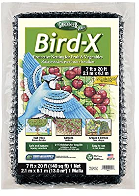Dalen NB1 7-Foot by 20-Foot Bird-X Net 3/4-Inch Mesh(2Pack)