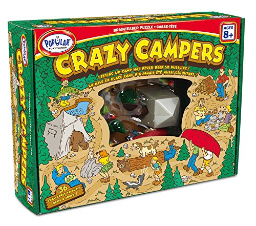 Popular Playthings Crazy Campers Puzzle, Kids Camp Puzzles, Camp Games Kids And Adults Love