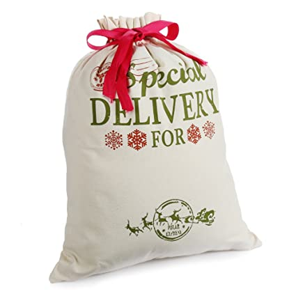 amazon com personalized santa sacks for christmas gift burlap bags