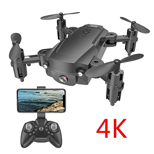 Blue-Yan Cámara 4K HD 1080P H16 Mini Drone, Quadcopter Plegable De ...