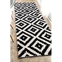 nuLOOM MTVS174A Black Hand Tufted Kellee Runner, 2.6 x 8, Black