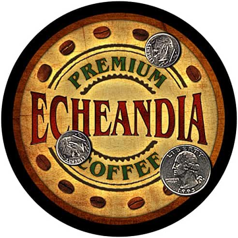 Echeandia Family Coffee Rubber Drink Coasters - Set of 4