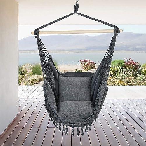 Rebel Life Hammock Hanging Rope Swing Indoor Macrame Chair