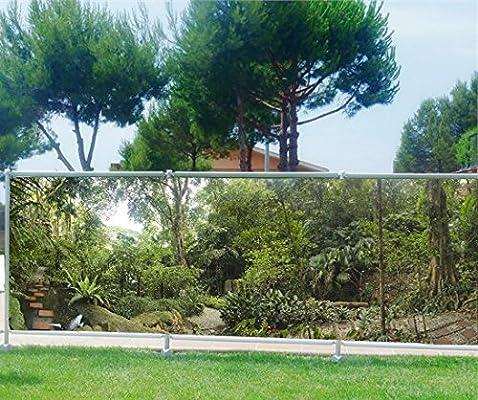 Malla de ocultación impresa, para jardín, terraza o balcón, decoración de bosque, poliéster, 100%, 340 x 132 cm: Amazon.es: Hogar