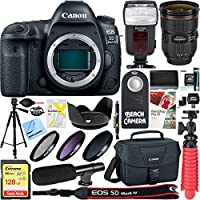 Canon EOS 5D Mark IV 30.4 MP Digital SLR Camera + EF 24-70mm f/2.8L II USM Lens Accessory Bundle