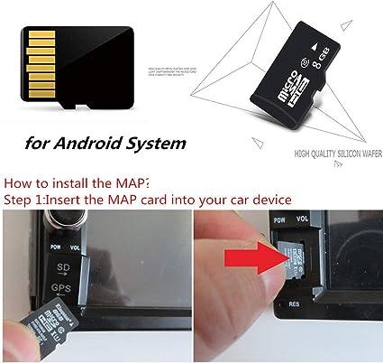 FidgetKute - Tarjeta SD para mapa GPS de navegación 8G con sistema Android para Estados Unidos, Canadá y México: Amazon.es: Coche y moto