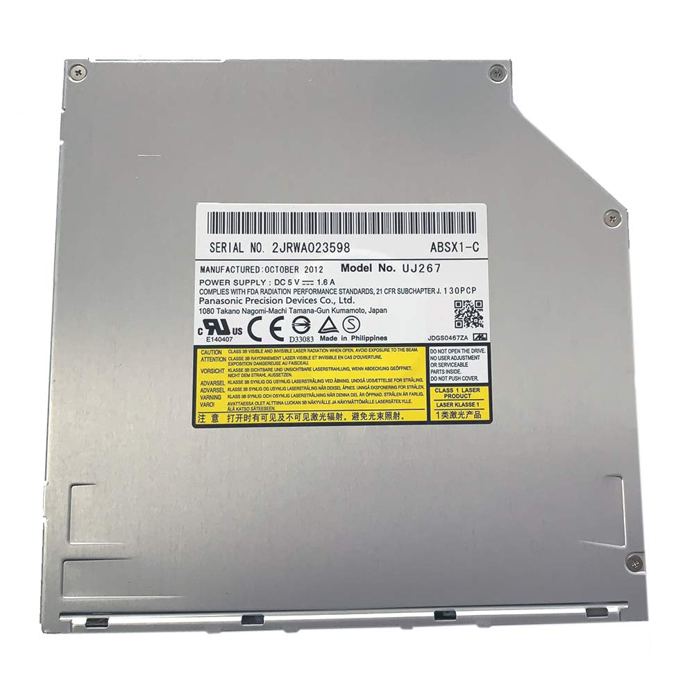 UJ267 UJ-267 9.5mm SATA Slot-in 6X 3D Blu-ray Burner BD RW Drive for MacBook Pro Dell Alienware M14x XPS 14z 15z and Sony Vpcz1 Vpcz117gg Laptops by Y-NX