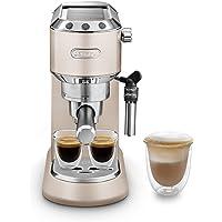 De'Longhi Dedica Style EC 685.BK Espresso Süzgeç Makinesi, Profesyonel Süt Köpüğü Başlıklı Espresso Makinesi, Sadece 15…