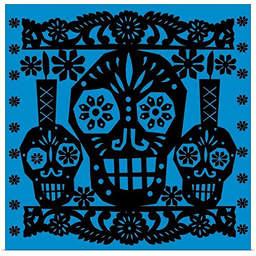 GREATBIGCANVAS Poster Print Entitled Happy Skulls Papel picado 1 by Luis Fitch 10