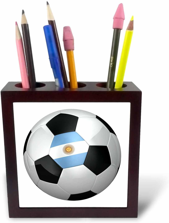3dRose ph_155041_1 - Soporte para bolígrafo de balón de fútbol de ...