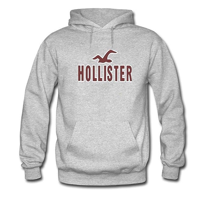 Hollister Hoodies - Sudadera con capucha - para hombre gris gris Small: Amazon.es: Ropa y accesorios