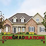 #6: Red Grad - Best is Yet to Come - Yard Sign Outdoor Lawn Decorations - Red 2018 Graduation Party Yard Signs - ConGRADulations
