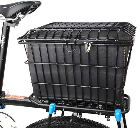 EEKUY Cesta de la Bicicleta con la Tapa, Bicicletas Cesta del ...