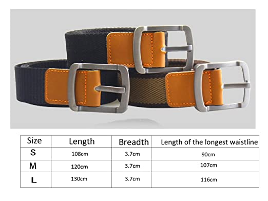 f5dfe0f7774 ITIEZY Outdoor Leisure Metal Pin Buckle Canvas Web Men Military Belts at  Amazon Men s Clothing store