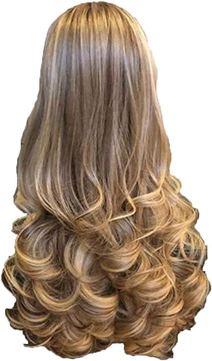 Peluca de pelo ondulado para mujer, largo rizado, degradado ...