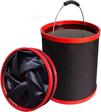 Collapsible Portable Bucket Water Carrier for Outdoors Fishing Camping Garden