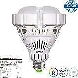 SANSI BR30 25W (200-150w Equiv.) Ceramic LED Light Bulb, 2400lm, 5000K Daylight, CRI 80, Non-dimmable, E26 Base Garage Basement Factory Warehouse Church Barn Sport Hall Security Task Lighting