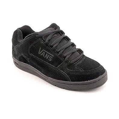 53101f1587 Vans Mens Camacho Low Leather Skate Sneakers - black -