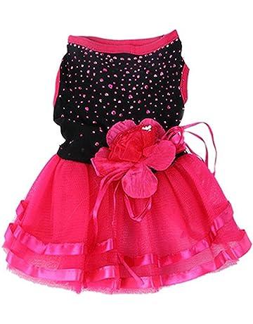 395fabe11 bismarckbeer Rose Flower Gauze Tutu Dress Puppy Dog Princess Clothes Costume  for Chihuahua Poodle Yorkshire