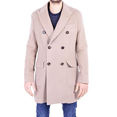 on sale 77267 ba62e Paoloni Cappotto Uomo 2311C55717163526 Lana Beige: Amazon.it ...