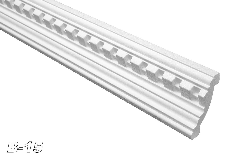 2 Mè tres dé cor inté rieur moulure polystyrè ne deckenprofil 61 x 80 cm-largeur :  15 mm Marbet Design
