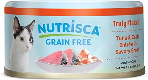 NUTRISCA Wet Cat Food for Adult Cats with Whole Shredded Meat Fish