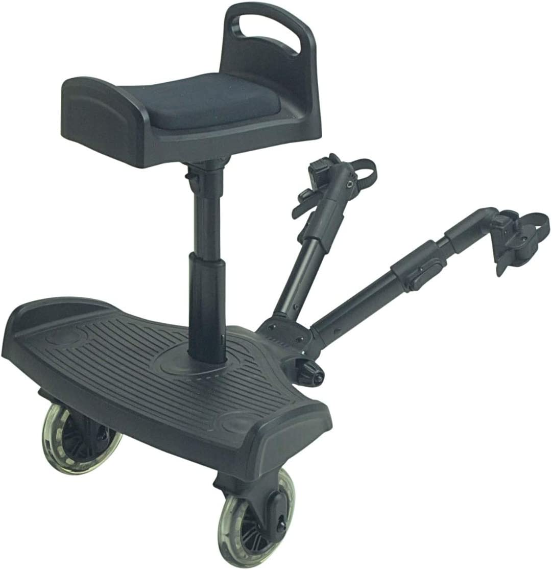 FYLO Ride On Board with Seat Compatible with Obaby Condor 4s Black
