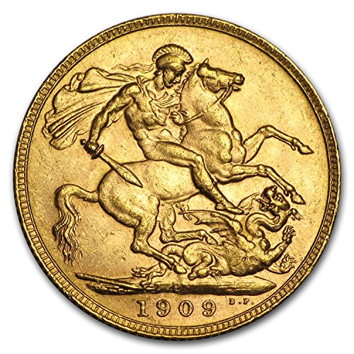 1902 AU - 1910-P Australia Gold Sovereign Edward VII BU Gold Brilliant Uncirculated