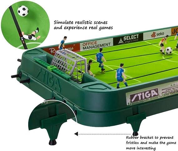Futbolines Mesa de Juego de fútbol de Escritorio Juguete Doble ...