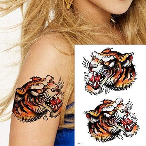 Tatuaje Temporal de Tigre, Animales, Agua, Tatuaje, león, Lobo ...