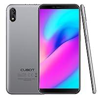"CUBOT J3 (2018) Pantalla 18:9 / 5.0"" Android GO Reconocimiento facial Dual Sim 1GB + 16GB, Cámara Trasera 8MP / Frontal 5MP, Procesador Quad-Core MT6580, Wifi, Bluetooth,GPS, 2G GSM/ 3G WCDMA Batería 2000 mAh Plata【CUBOT OFICIAL】"