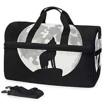 Amazon.com: Wolf Bolsa de viaje de equipaje deportivo bolsa ...