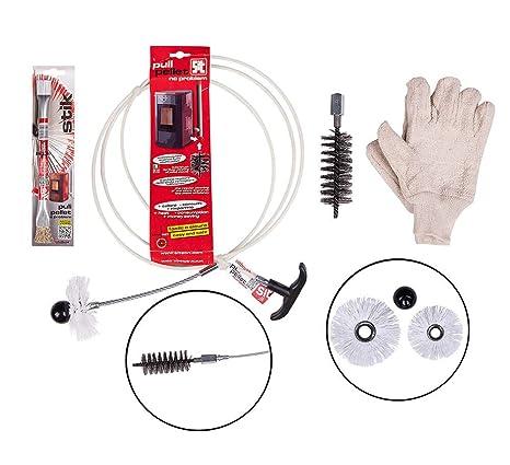 Kit de limpieza profesional para estufas de pellets y chimeneas Pulipellet Light 2m Varilla fibra vidrio