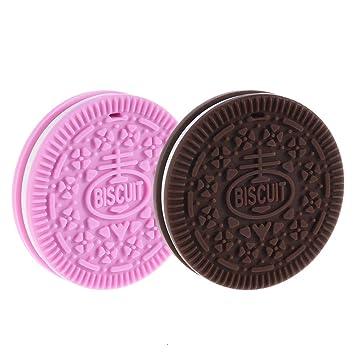 Amazon.com: Juguetes de dentición, 2 piezas, para galletas y ...