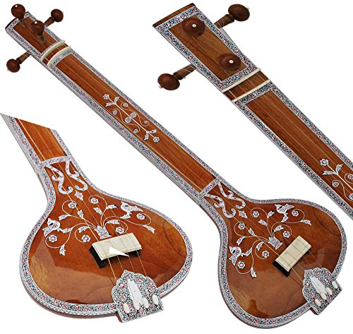 New Tanpura, Tambura, Tanpuri, 4 Main String, Tun Wood, Beautiful Craft Work, Sweet Sound, Natural Wood Colour, Comes with Gig Bag, Extra Strings Best for Yoga, Bhajan, Kirtan, Mantra, Raaga, Drone by Kaayna Musicals