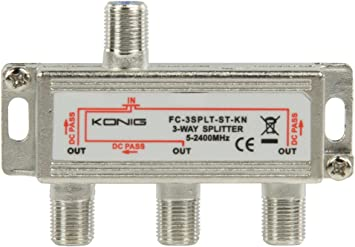 De rey Digital 3-antena TV BK distribuidor de cable de antena ...