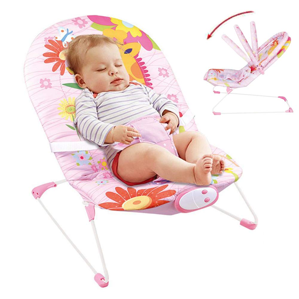 JFMBJS New-Born Rocker Chair, Bouncer for Baby with Activity Centre with Removable Toy Bar and Soothing Vibrations by JFMBJS
