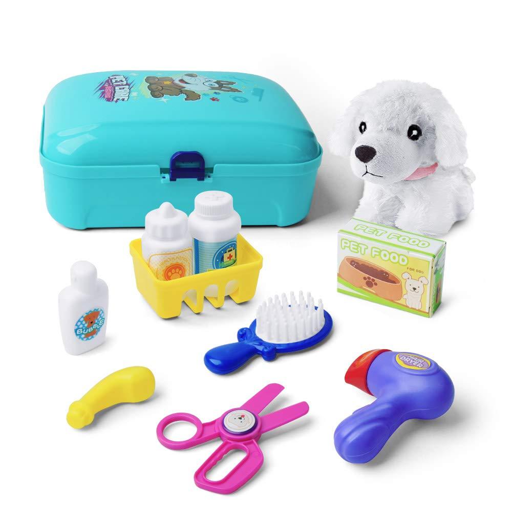 Giochi Bambina 2 Anni Pet Finta Play Set Giocattoli con Zaino 16pcs Playset Toys per 2 3 4 5 Anni Bambini