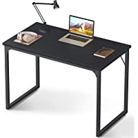 "Coleshome Computer Desk 31"", Modern Simple Style Desk for Home Office, Sturdy Writing Desk,Black"
