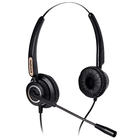 Corded RJ9 Phone Headset Binaural with Noise Canceling Microphone Only for  Cisco IP Phones: Such as 6941 7942 7971 8841,8845, 8851, 8861,8945, 8961,