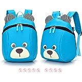 FULLIN Light Blue Cute Cartoon Bear Children School Bag Rucksack Reduced Primary School Students Packs Of Light Children Shoulder Bag