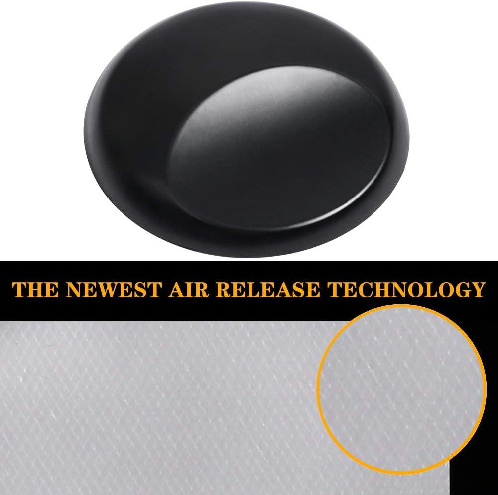 aRMORSPPF Car Wrap Vinyl Film Roll Featuring Air Release Technology 1.5ft x 5ft AMPF Matte Black Vinyl Wrap