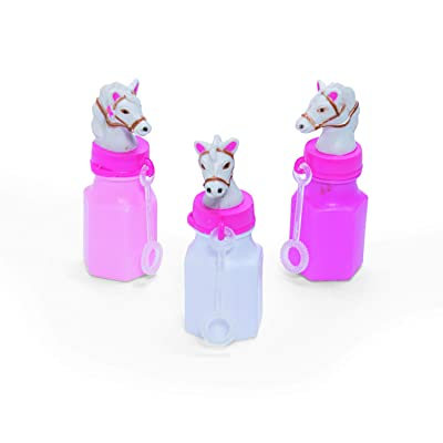 Pink Cowgirl Bubble Bottles (12 pieces) Party Supplies, Party Favors: Toys & Games