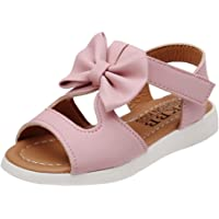 Perman Summer Baby Girl Toddler Soft Sole Bowknot Anti-slip Prewalker Sandals (1.5-2Years/14.5CM, Pink)