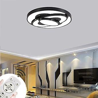 Miwooho 48w Deckenleuchte Dimmbar Led Deckenlampe Wohnzimmer Lampe Modern Deckenleuchten Schlafzimmer Wandlampe Wohnzimmer Energieklasse A Amazon De Beleuchtung