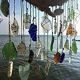 Miller High Life Beach Glass Sun Catcher Eco Friendly Decor Beach Wedding Lake Erie Bohemian Window