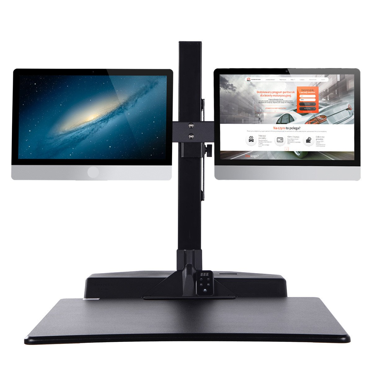 Standing Desk Riser, Freemaxdesk Electric Power Remote Control Height Adjustable Sit to Stand Desk Converter with Monitor Vesa Mount ,Worksuface(26''x21'') by freemaxdesk (Image #5)